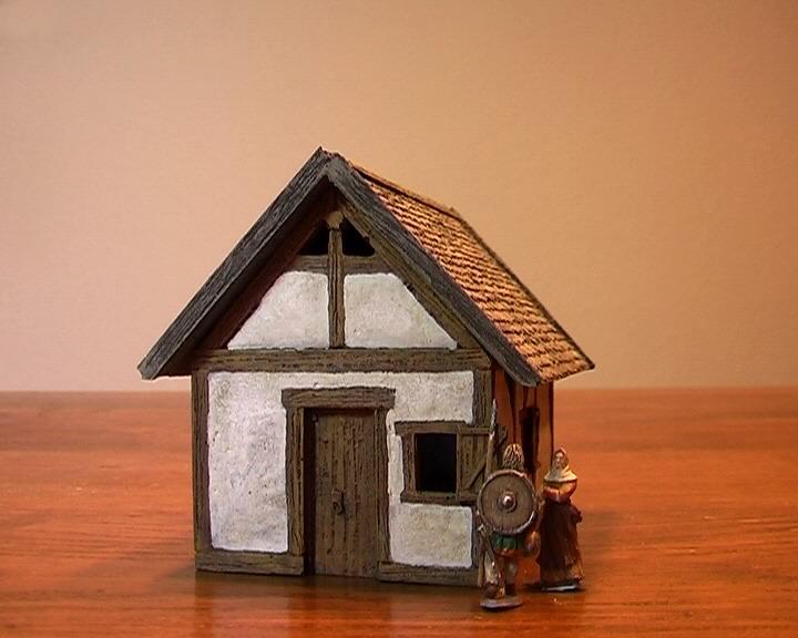 kamar figuren und modellbau shop kleines fachwerkhaus 1 bausatz antike fr hes mittelalter. Black Bedroom Furniture Sets. Home Design Ideas