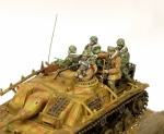 Ardennes 1944 - german. Grenadiers on STUG III, 1:72