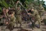 Japanese Infantry, heavy weapons, WW2, 1:72