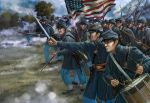 US Infantry, attacking, ACW, 1:72