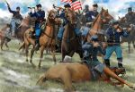 US Cavalry, skirmishing, ACW, 1:72