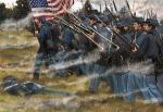 Union infantry charging, Set 2, 1:72