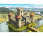 Medieval Stone Castle with Keep, 1:72
