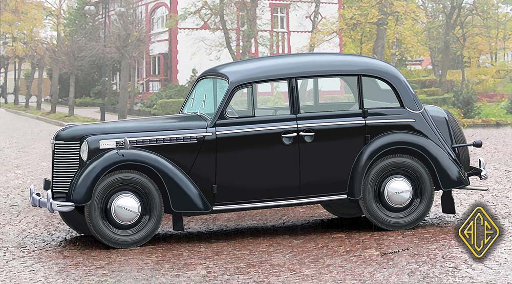 kamar figuren und modellbau shop - opel olympia 1938, 4-türer, 1:72