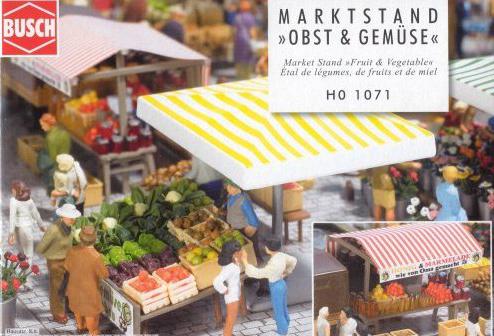 Busch 1070 H0 Marktstand Gemüse