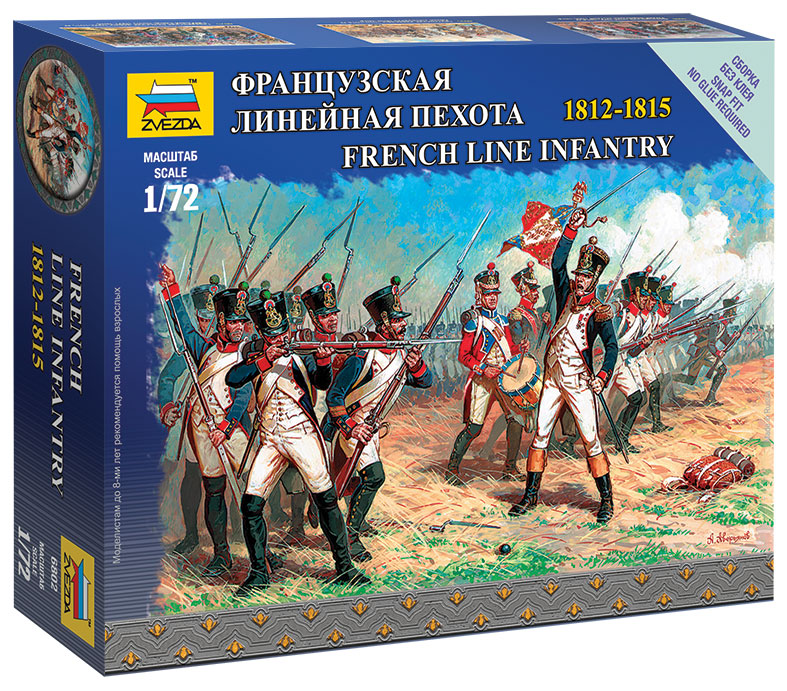 1:72 FIGUREN 6802 FRENCH LINE INFANTRY ZVEZDA NAPOLEONIC WAR